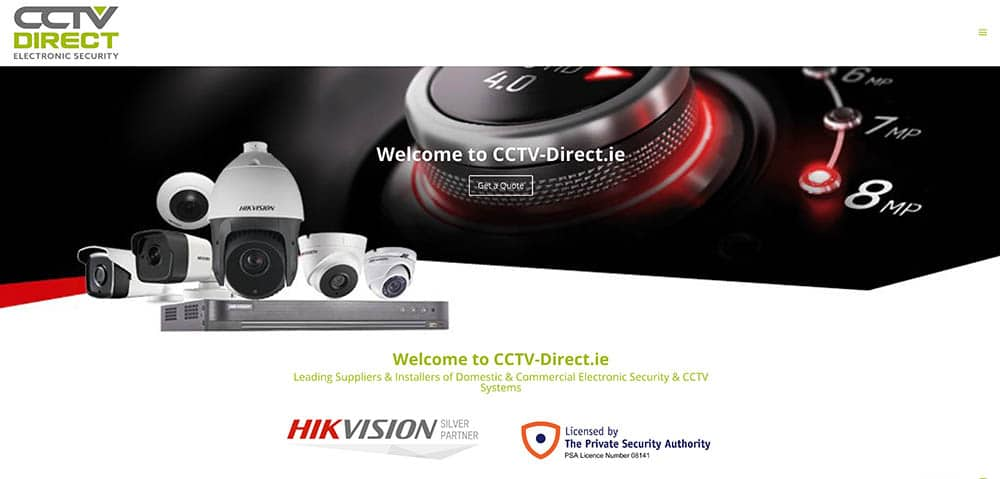CCTV Direct E-commerce Website Kildare